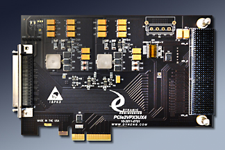 4 lane PCIe to VPX 3U adapter in mid size PCIe card